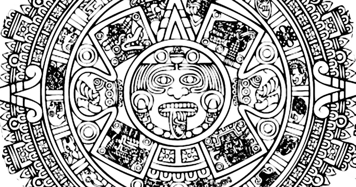 Images Aztec Calendar Coloring Pages Coloring Pages