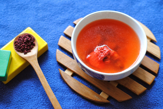 easy red yeast rice / angkak / anka soup recipe ServicefromHeart