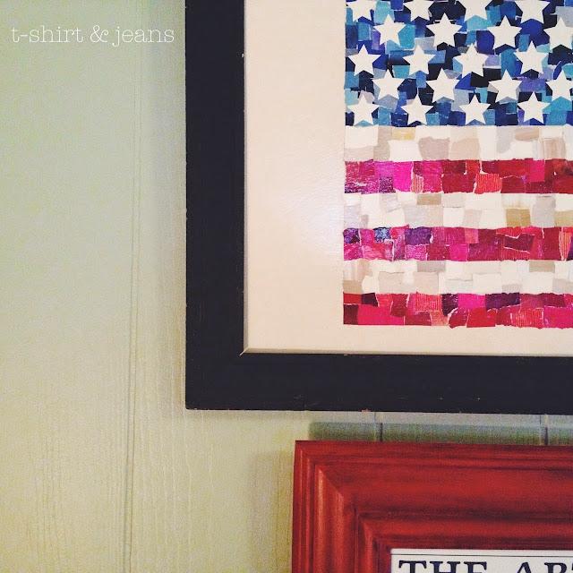 DIY Scrap Paper American Flag