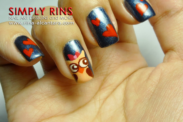 Owl Nail Art Design