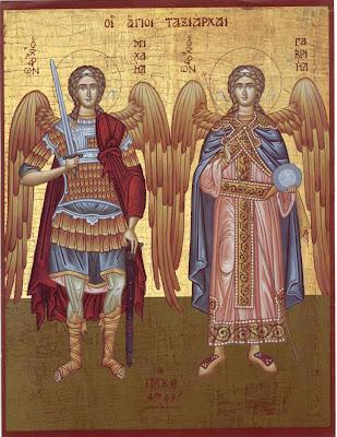 Sfinţii arhangheli Mihail şi Gavriil