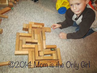 wood block building fun