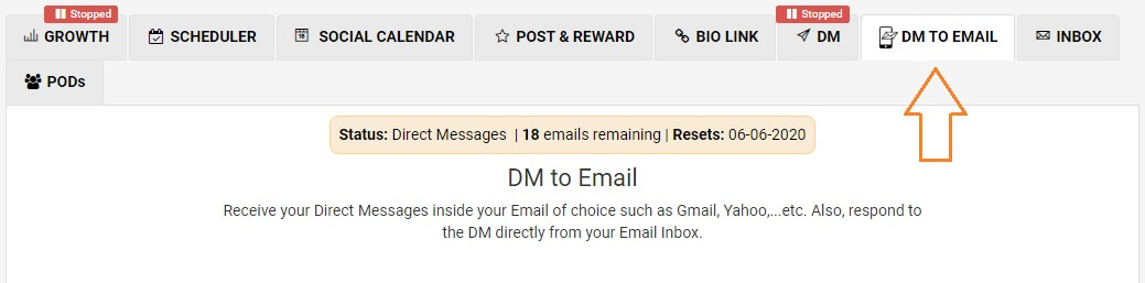 AiGrow DM to email