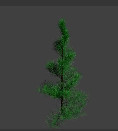 blender drzewko sapling rotate angle 30