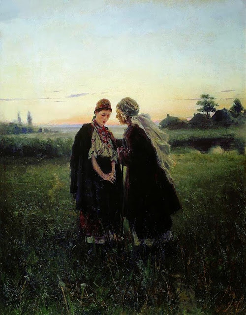Vladimir Makovsky - Mother and Daughter