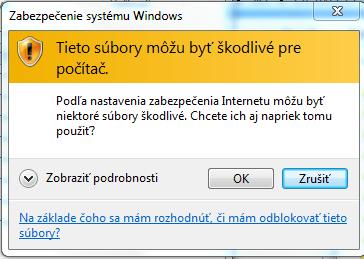 Problém so zabezpečením systému Windows