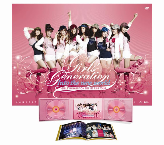 Girls Generation Releases Girls Generation the 1st Asia Tour Into The New World DVD