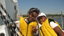 J/24 City Sail- sailors from New York City Bronx having fun!