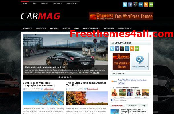Free WordPress Cars Magazine Theme Download