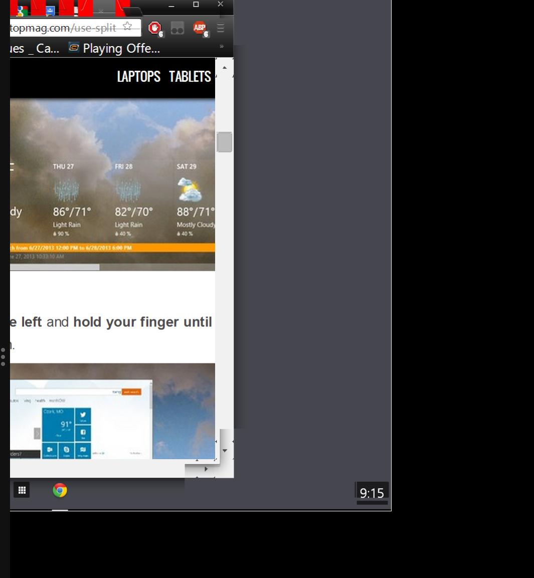 Google Chrome windows 8 mode (metro mode) is really weird