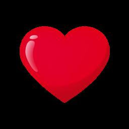 Rood liefdes hart afbeelding
