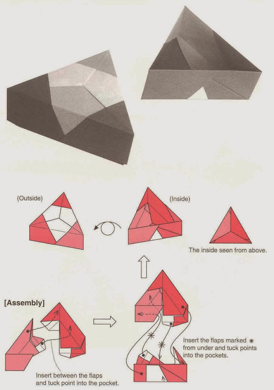 треугольная коробочка