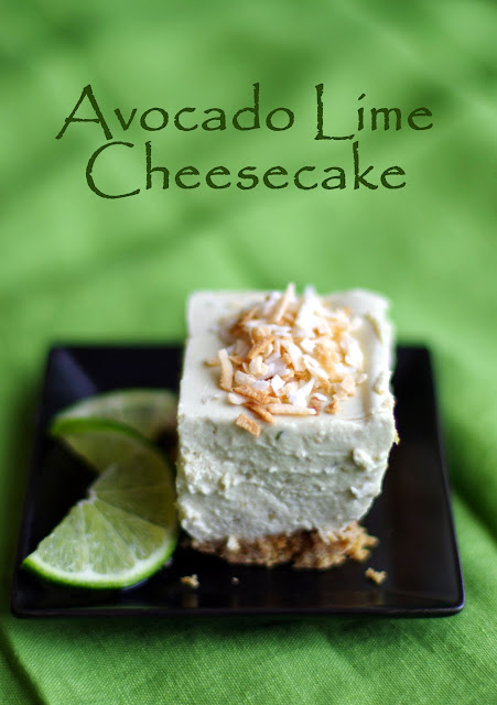 Within the Kitchen: No Bake Avocado Lime Cheesecake
