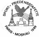 Logo: Sport-Friedensstafette Paris - Moskau 1989