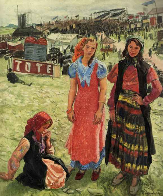 Laura Knight - Gypsies at Epsom