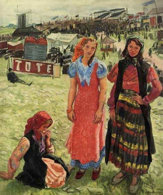 Laura Knight - Gypsies at Epsom