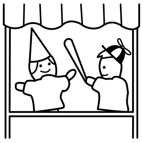 puppets coloring pages - photo#31