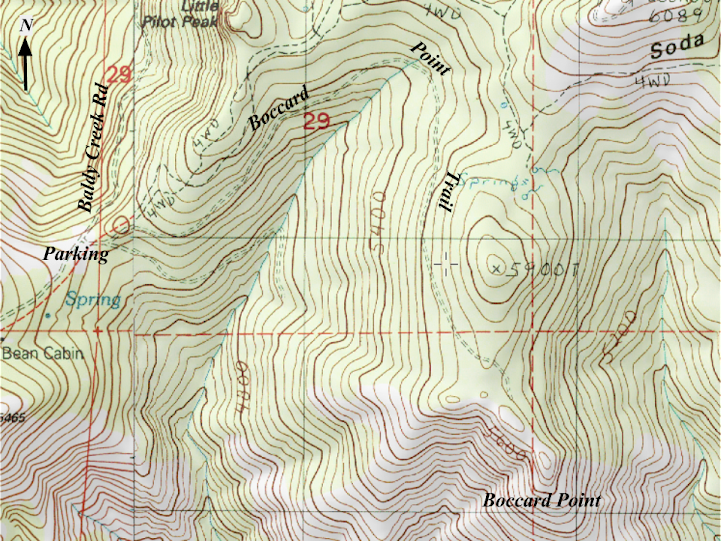 Boccard Point Topo
