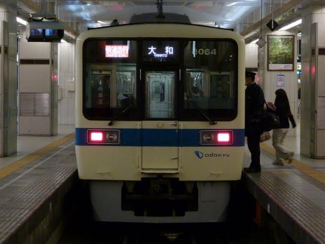 小田急電鉄 快速急行 大和行き 8000形(東京電力計画停電に伴う運行)