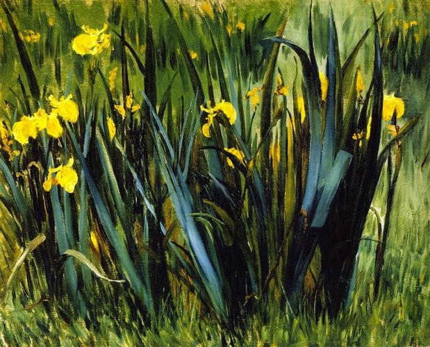 John Leslie Breck - Yellow Fleurs de Lis