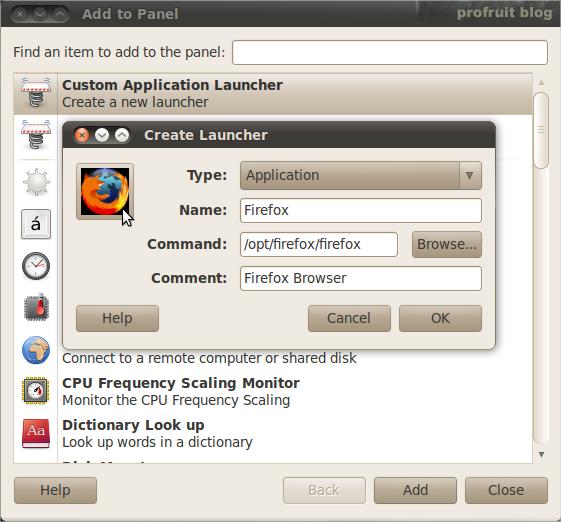 създаване на кратък път Ubuntu 10.04