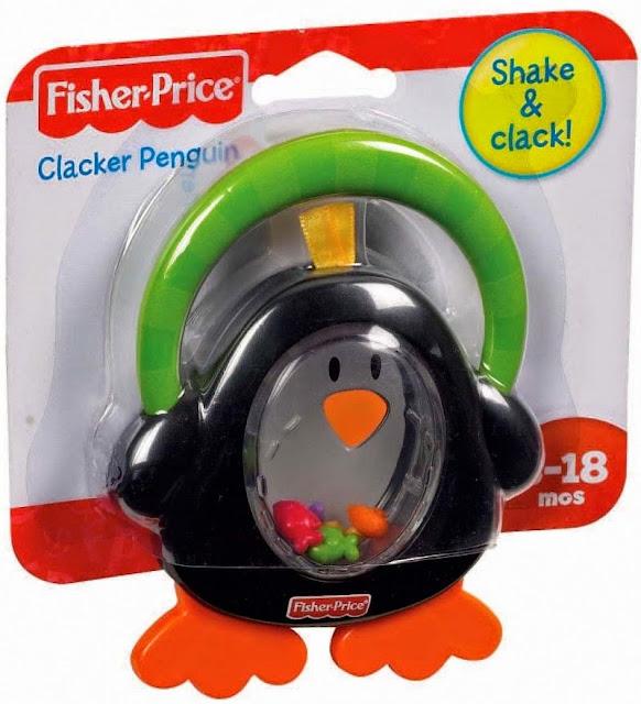 Xúc xắc - Lục lạc Chim cánh cụt Fisher Price tuyệt đối an toàn