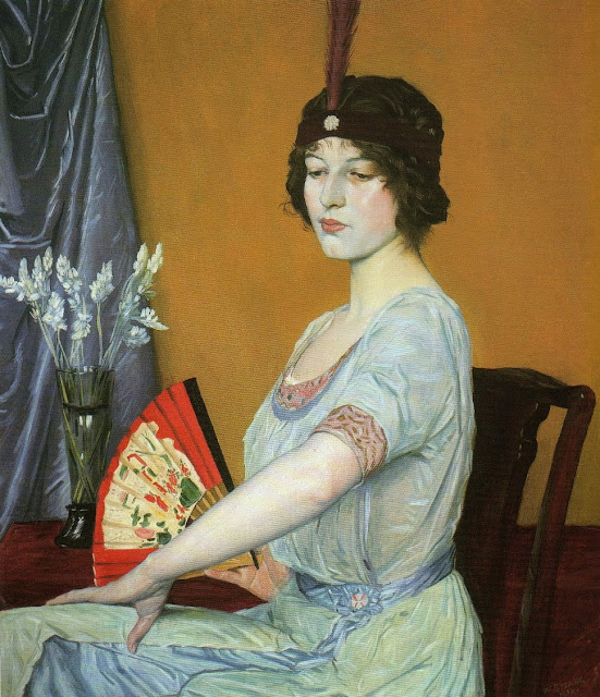William Strang - The Japanese Fan, 1914.