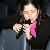 Amanda Aouad no FICI 2013 - O Pequeno Jornalista