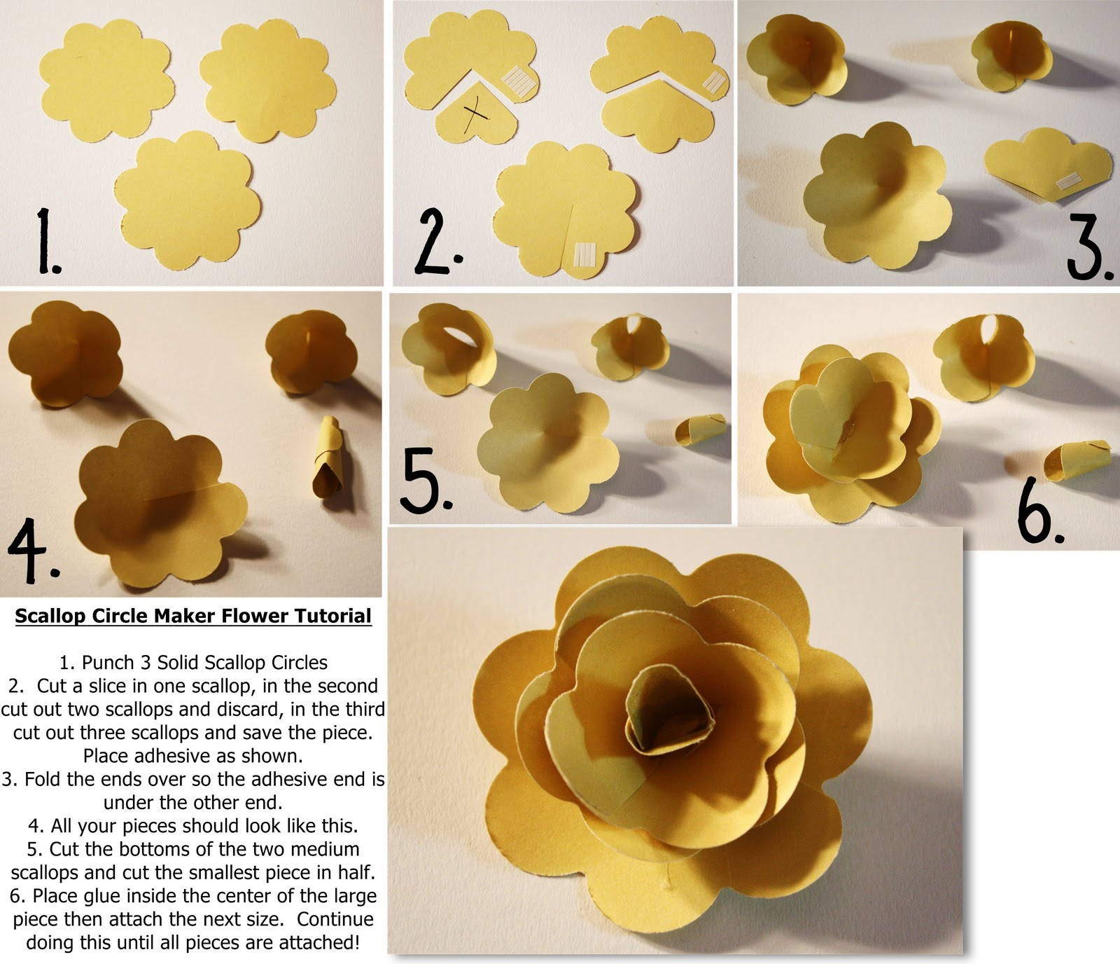 Bits Of Paper Scallop Circle Maker Flower Tutorial