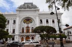Palacio de la Gobernación, en la plaza central de Sucre