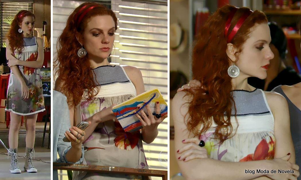 moda da novela Em Família - look da Vnaessa dia 19 de fevereiro