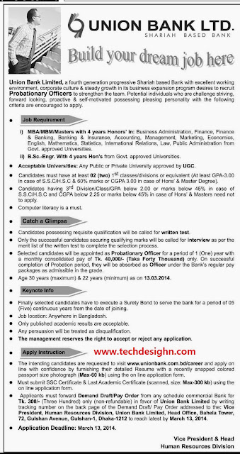 union bank limited officer