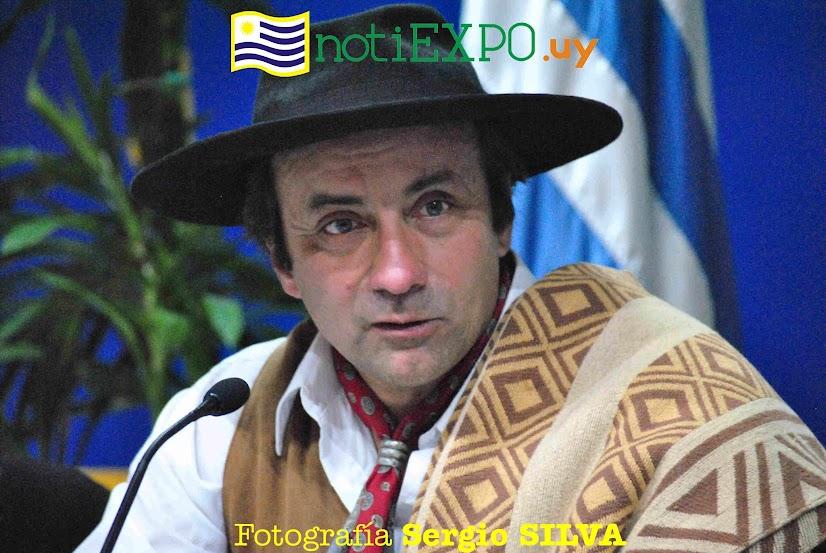 Fernando Lasaga de la Asociacion deSociedades Tradicionalostas de Paysandu. Foto Sergio SILVA ALFONSO.