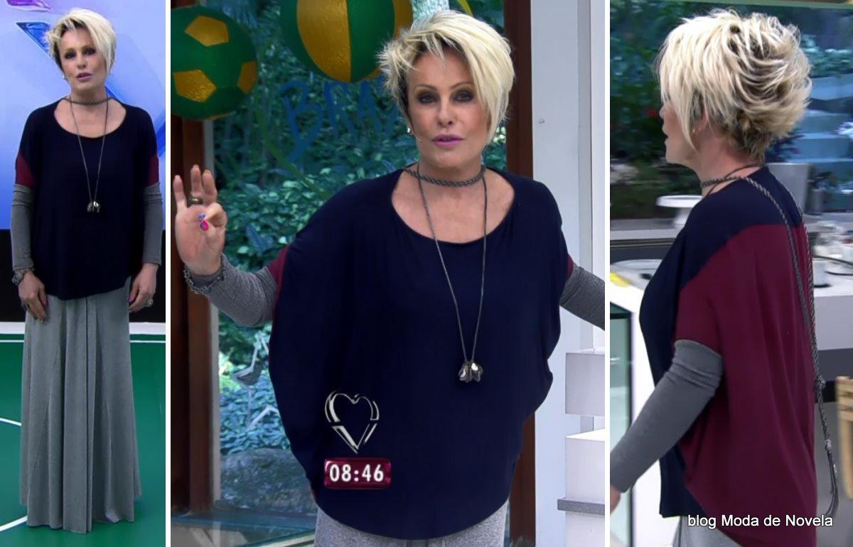 moda do programa Mais Você - look da Ana Maria Braga dia 18 de junho