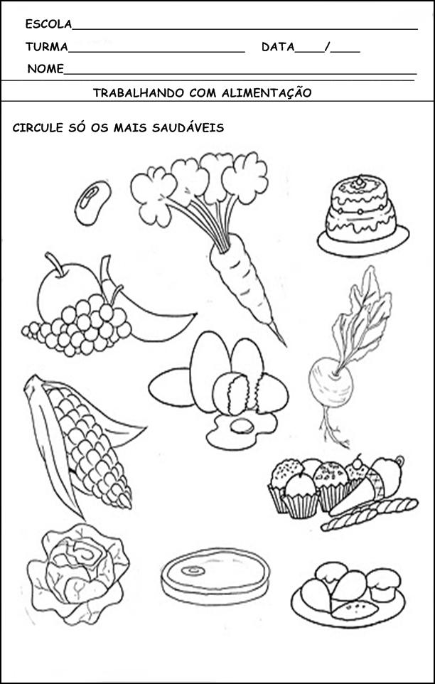 atividades alfabetizacao jardim horta pomar:conteúdos dessa postagem atividades de alimentação atividades