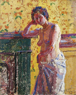 Harold Gilman - Interior with Nude