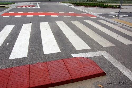 Specjalne azyle ograniczają do niezbędnego minimum szerokość jezdni i miejsce gdzie piesi i rowerzyści przecinają drogę samochodom.