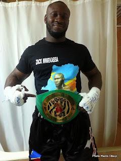 Le boxeur congolais Zack Mwakassa. Ph/ Congobiographie