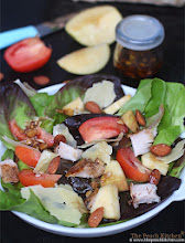Thumbnail image for A Good Way To Use Leftover Roasted Chicken: Autumn Salad of Butterhead Lettuce, Apples and Almonds