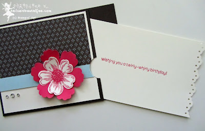 stampin up, flower shop, wishes your way, birthday, geburtstag, mixed bunch, pocket card, festival of prints