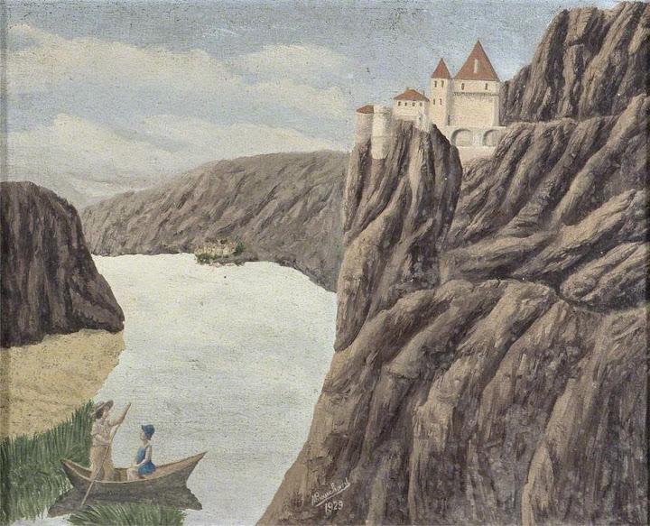 André Bauchant - Paysage montagneux