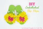 Embellished Flip Flops