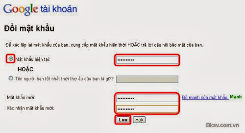 cach doi mat khau gmail giao dien tieng viet buoc 3 Hướng dẫn cách thay đổi mật khẩu Gmail bằng hình ảnh