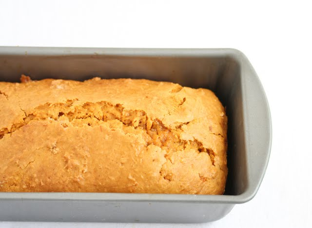 photo of Pumpkin Ice Cream Bread in a pan