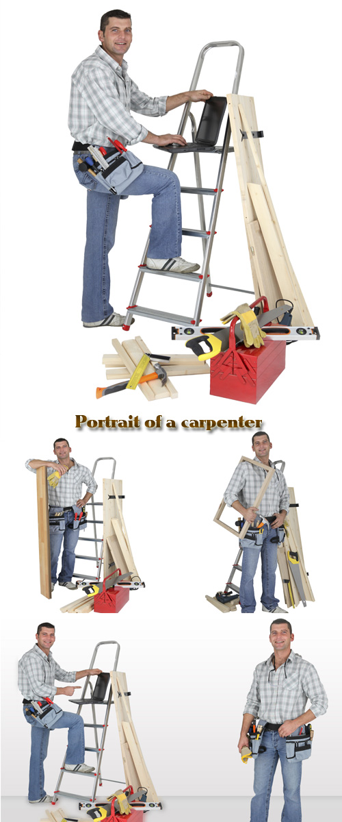 Stock Photo: Portrait of a carpenter