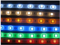 LED (Light Emitting Diodes) strip-arrays can be automatically controlled to provide various coloured illumination effects on the outer surfaces of PDWeb digital service Hub units: Street Furniture.