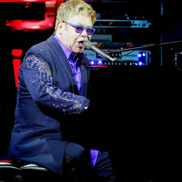 English rock singer-song writer Elton John performs on stage during the Monte Carlo Summer Festival on July 26, 2014 in Monaco.