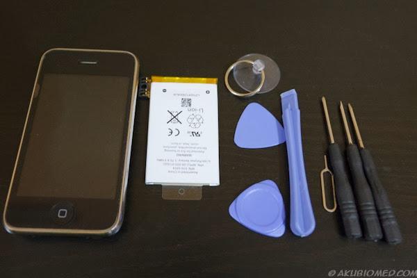 peralatan menukar bateri iphone dan bateri