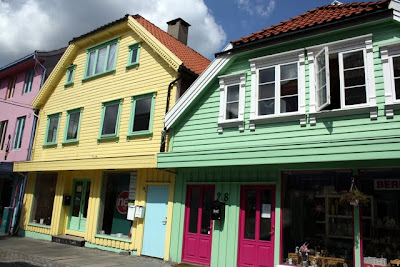 Colorful buildings in Stavanger Norway