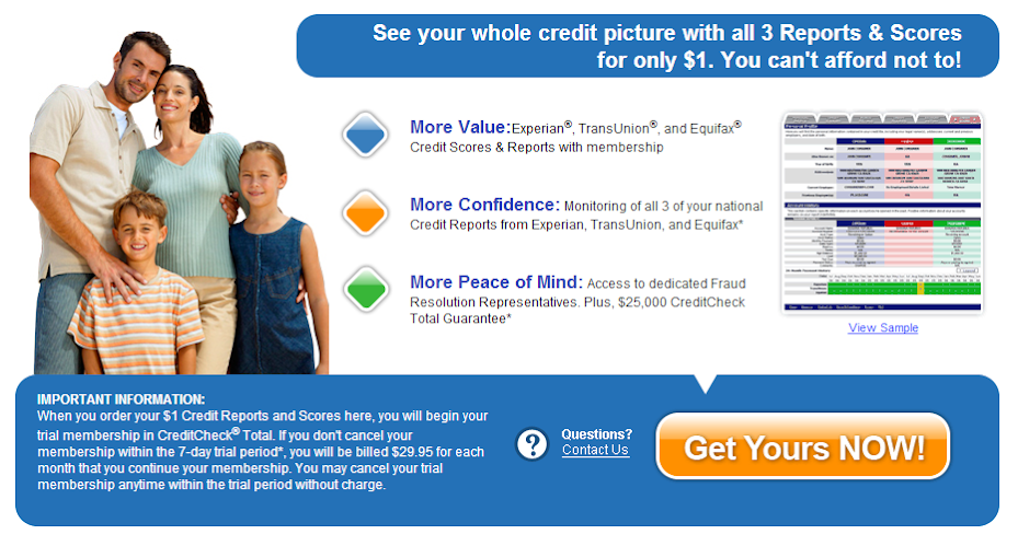 3 in 1 credit report free